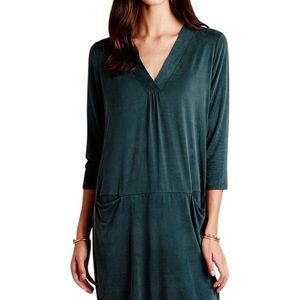 Dolan from Anthropology forest green dress
